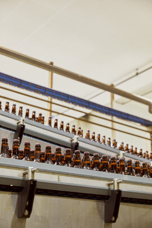 The Bottling hall at AB-Inbev Magor in Wales, United Kingdom, June 2021. CREDIT: Emli Bendixen for The Wall Street Journal - Budweiser Brewing Group - Emli Bendixen