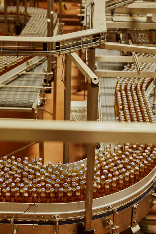 Corona beer bottles at the newly developed MAB4 site at AB-Inbev Magor in Wales, United Kingdom, June 2021. CREDIT: Emli Bendixen for The Wall Street Journal - Budweiser Brewing Group - Emli Bendixen